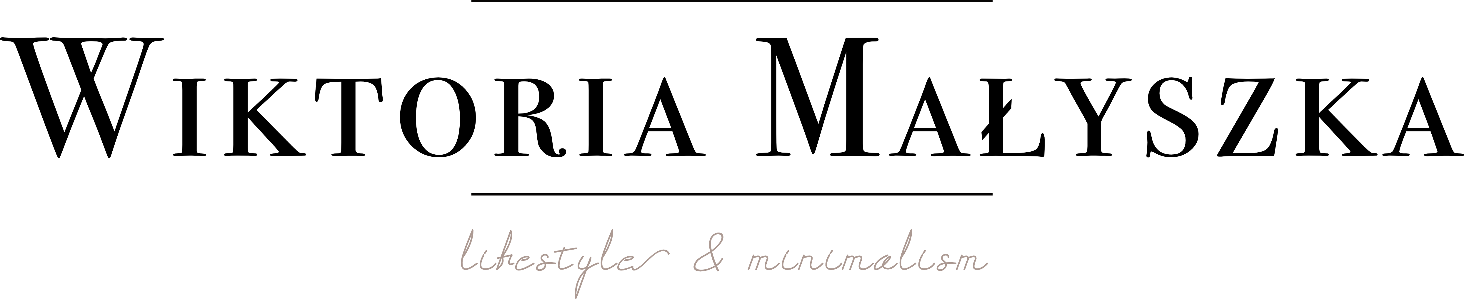Wiktoria Małyszka I Lifestyle & Minimalism Logo